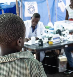Intervención de Médicos del Mundo en un país africano